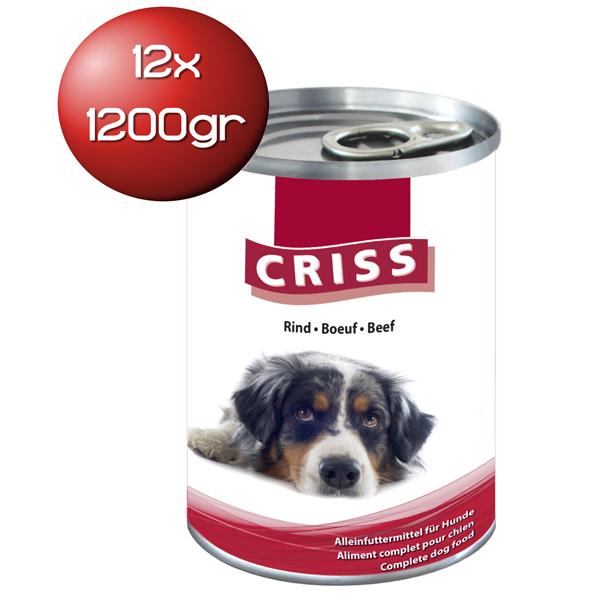 Scatolette per cani Criss bocconcini al manzo 12x1200gr