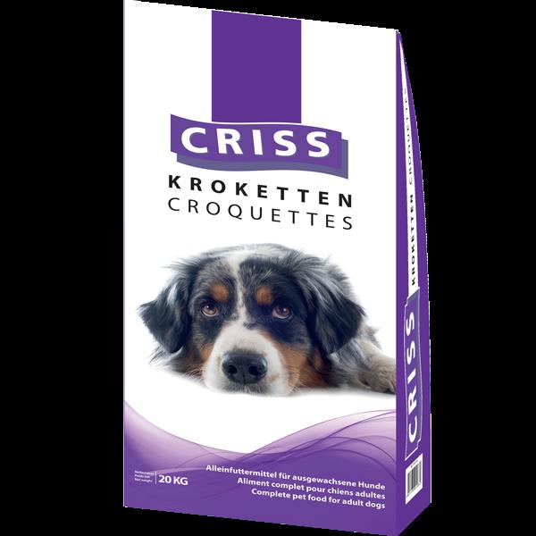 Crocchette per cani Criss – Carne e Cereali – sacco da 20kg.