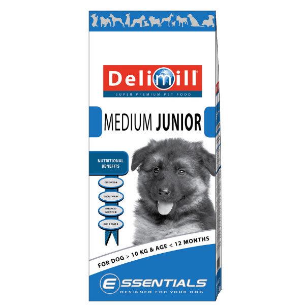 Crocchette cuccioli Taglia Media Delimill Medium Junior sacco da 15Kg