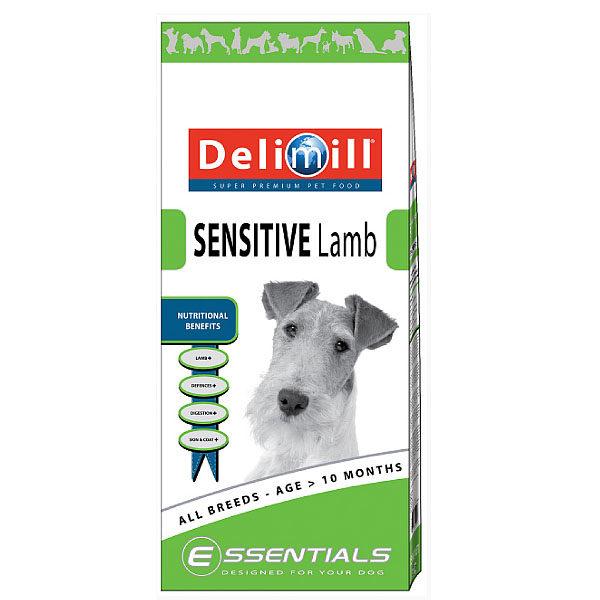 Crocchette per cani Delimill Essential Sensitive Agnello sacco da 15 kg