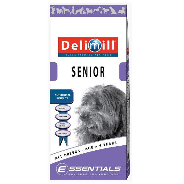 Crocchette per cani anziani Delimill Essential Senior sacco da 15 kg