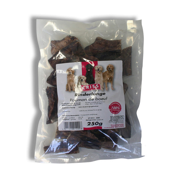 Polmone di manzo essiccato Criss snack per cani