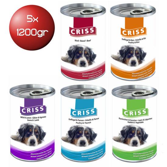 Scatolette per cani Criss Kit Assaggio 5x1200gr