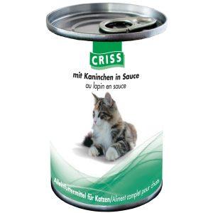 Scatolette per gatti CRISS Coniglio 24x400gr