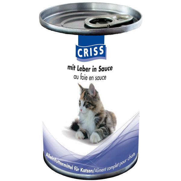 Scatolette per gatti CRISS Fegato 24x400gr