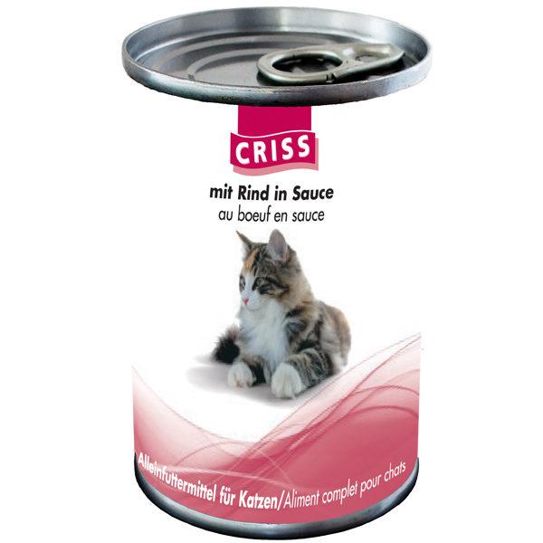 Scatolette per gatti CRISS Manzo 24x400gr