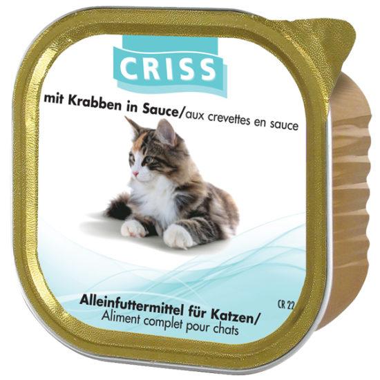 Scatolette per gatti CRISS Crostacei 32x100gr