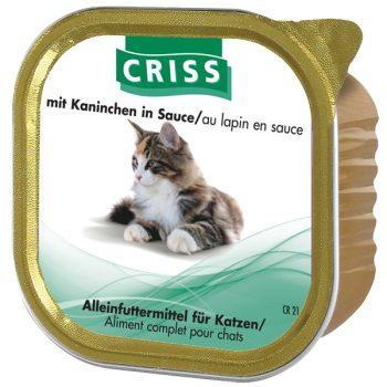 Scatolette per gatti CRISS Coniglio 32x100gr