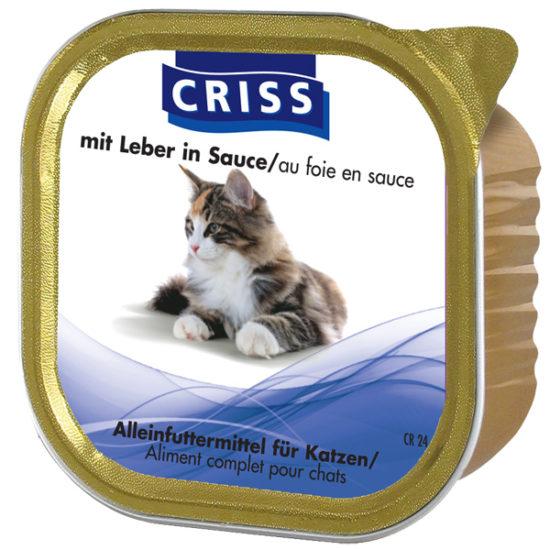 Scatolette per gatti CRISS Manzo 32x100gr