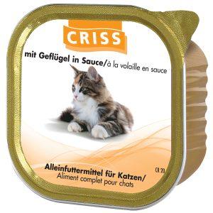 Scatolette per gatti CRISS Pollame 32x100gr