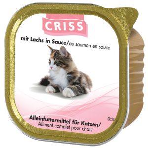 Scatolette per gatti CRISS Salmone 32x100gr