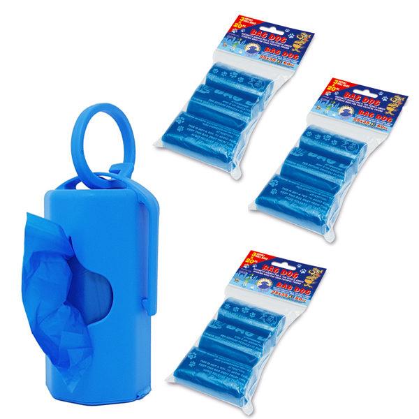 dispenser blu con 200 sacchettini