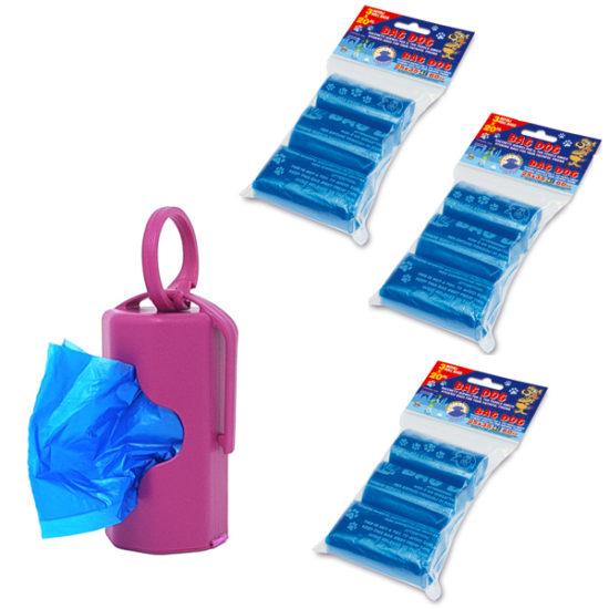 dispenser rosa con 200 sacchettini profumati