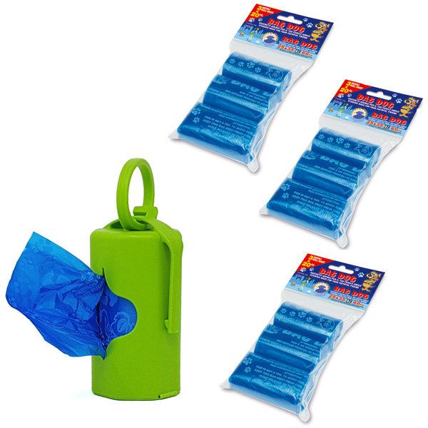 dispenser verde con 200 sacchettini profumati