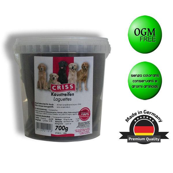 Snack per cani Criss linguette di carne di manzo confezione da 700gr